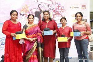 Padma Shri Aruna Sairam flag off's The Hindu 'Heels on Wheels' at The Forum Vijaya Mall
