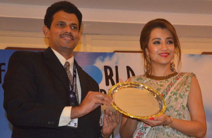 Trisha conferred the UNICEF Celebrity Advocate Status